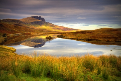 Loch Fada looking onto the Old Man of Storr.