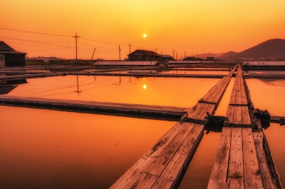 Sunset over Salt Field