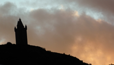 Sunset silhouette - Scrabo tower