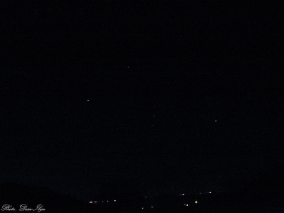 Constellation Orion above the City. 28.08.'14. ; )