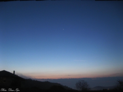 Jupiter on the Morning Sky, and the fog in the valley. 11.09.'14.