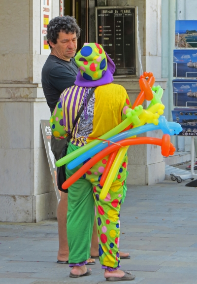 Taking a break from clowning around