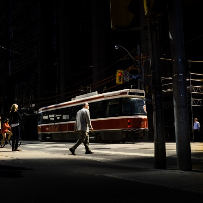 Untitled (Man and Street Car)