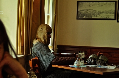 Knight in Café