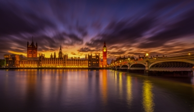 The beautiful London at Sunset