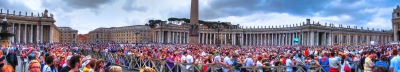 St Peters Square with Pope