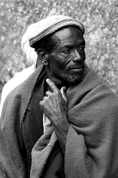 An ethiopian pilgrim in Lalibela