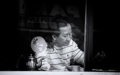 Tea. Chinatown, London. September 2014.