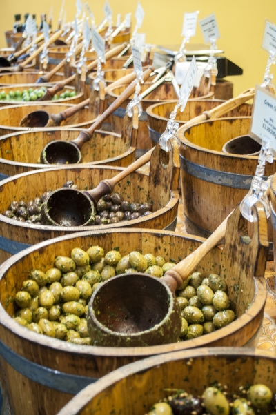 An array of olives at Borough Market