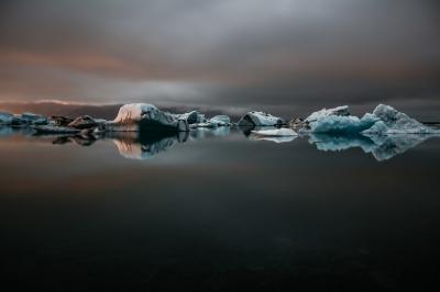 Sunset Over Glacier Lake