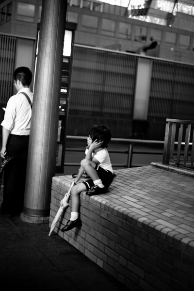awaiting the bus