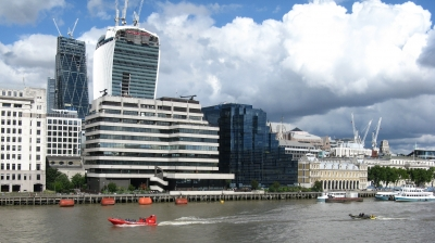 The ever changing Thames sky line.