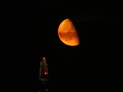 The Shard and the waning moon