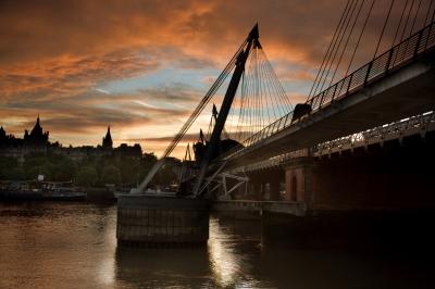 Hungerford bridge sunset