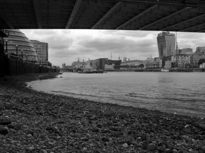 low tide at Tower Bridge